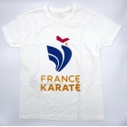 "T-shirt ""France Karaté"" blanc/or Homme"