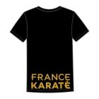"""T-shirt """"France"""" noir Femme"""